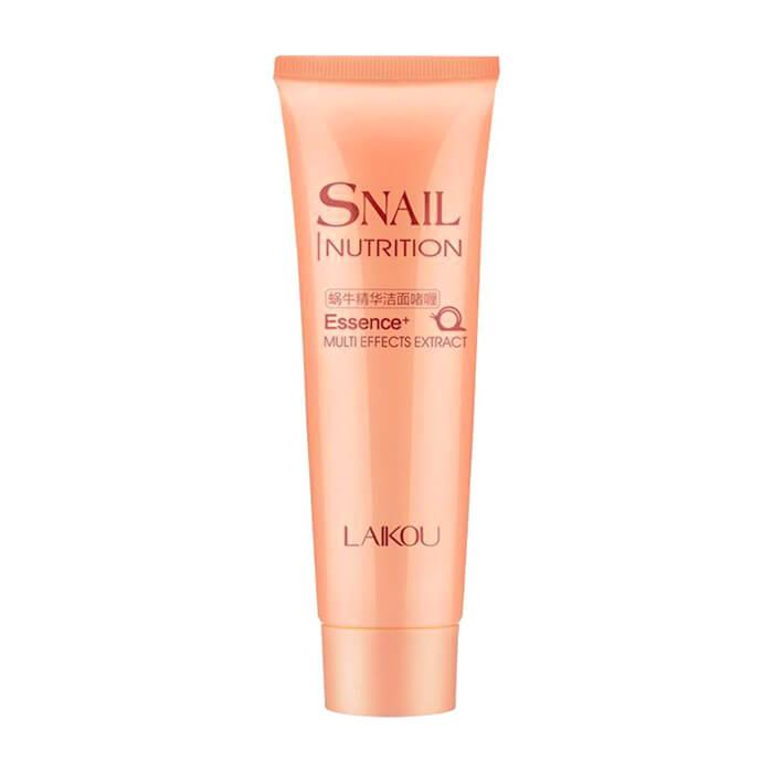 Купить Пенка для умывания Laikou Snail Nutrition Essence+ Cleansing Foam, Пенка для умывания и восстановления кожи лица с муцином улитки, Китай