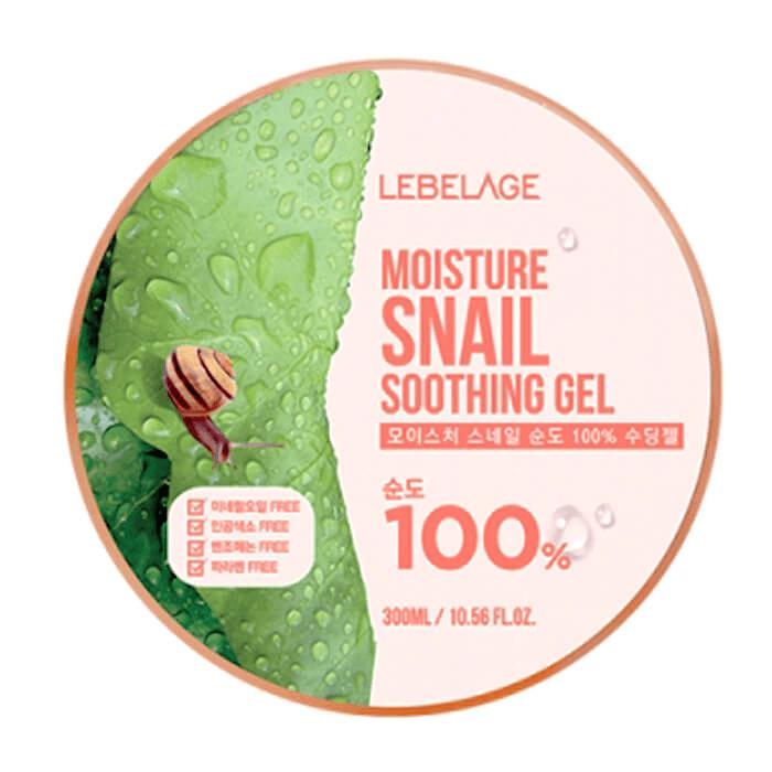 Купить Гель с улиткой Lebelage Moisture Snail 100% Soothing Gel, Многофункциональный гель для увлажнения лица и тела с муцином улитки, Южная Корея