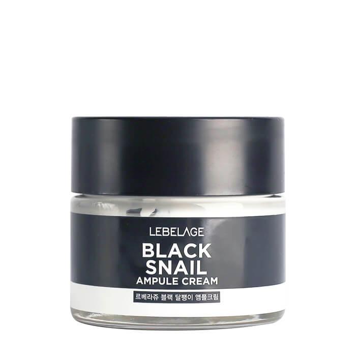 Купить Крем для лица Lebelage Ampule Cream Black Snail, Ампульный крем для восстановления кожи лица с экстрактом слизи чёрной улитки, Южная Корея