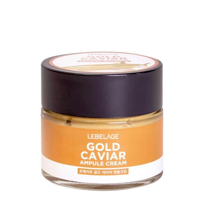 Купить Крем для лица Lebelage Ampule Cream Gold Caviar, Ампульный крем для интенсивного омоложения лица с экстрактом икры, Южная Корея