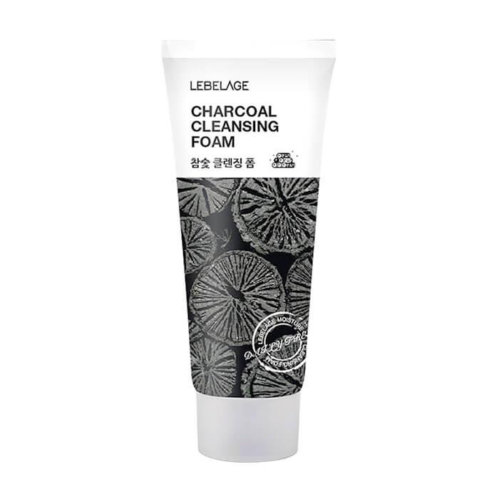 Купить Пенка для умывания Lebelage Cleansing Foam Charcoal, Очищающая пенка для жирной проблемной кожи лица с экстрактом древесного угля, Южная Корея