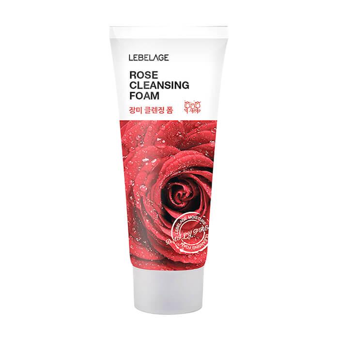 Купить Пенка для умывания Lebelage Cleansing Foam Rose, Очищающая пенка для увлажнения кожи лица с экстрактом розы, Южная Корея