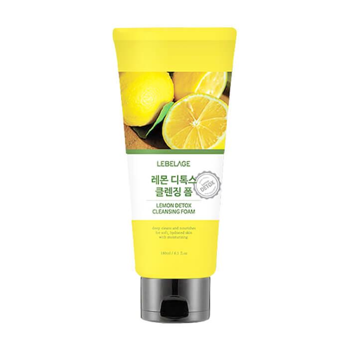 Купить Пенка для умывания Lebelage Lemon Detox Cleansing Foam, Очищающая детокс-пенка для гладкости и сияния кожи лица с экстрактом лимона, Южная Корея