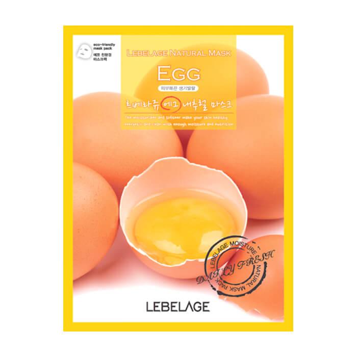 Купить Тканевая маска Lebelage Egg Natural Mask, Тканевая маска для очищения и сужения расширенных пор кожи с яичным экстрактом, Южная Корея