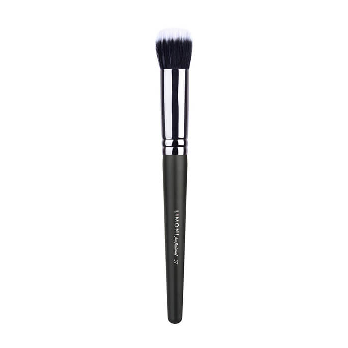 Кисть для макияжа Limoni Professional №37 с двойным ворсом (нейлон/коза) Профессиональная универсальная кисть из двухуровневого смешанного ворса фото