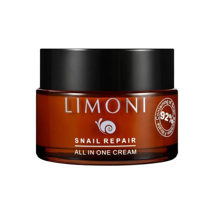 Купить Крем для лица Limoni Snail Repair All In One Cream, Крем для лица с экстрактом секреции улитки, Южная Корея