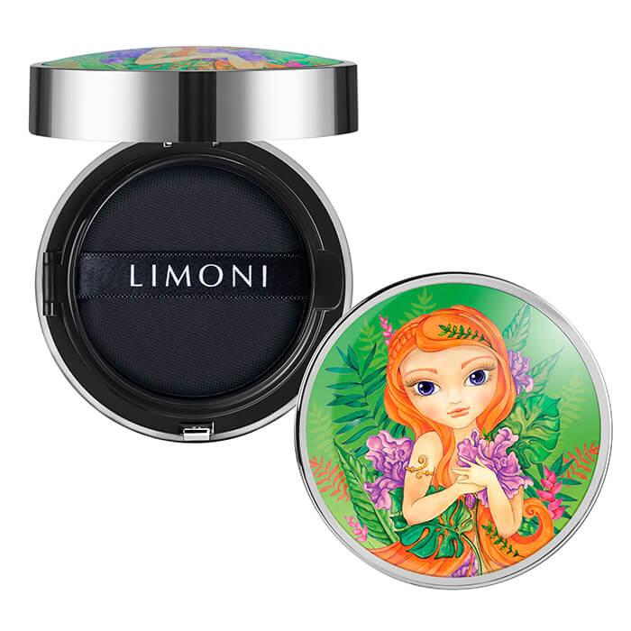 Купить Кушон для лица Limoni All Stay Cover Cushion - Jungle Princess, Солнцезащитный тональный флюид-кушон для лица с аминокислотами, Южная Корея