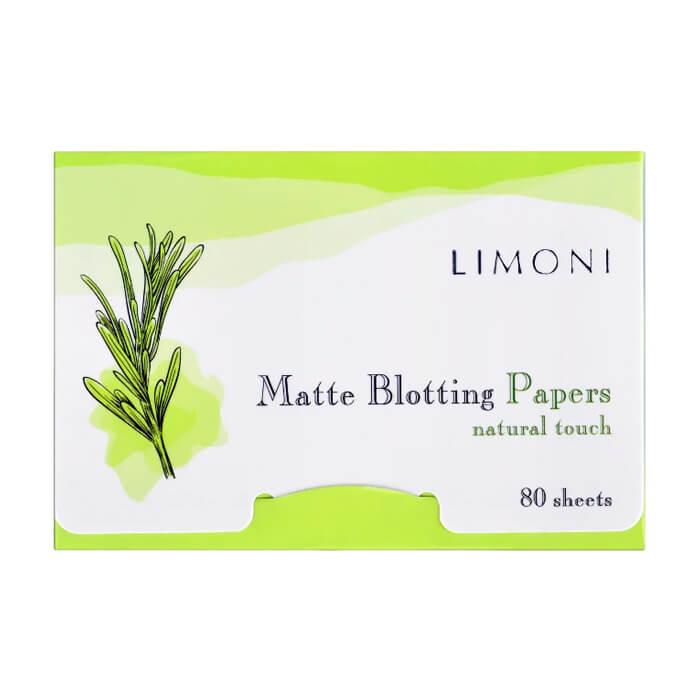 Матирующие салфетки для лица Limoni Matte Blotting Papers Матирующие салфетки для удаления жирного блеска на лице фото