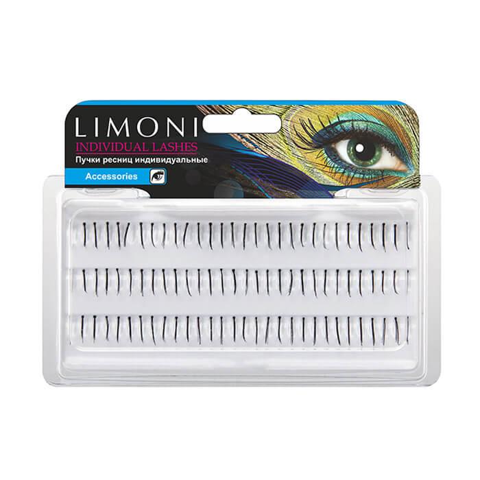 Пучки ресниц Limoni Individual Lashes 12мм Индивидуальные черные пучки для ресниц 12мм фото