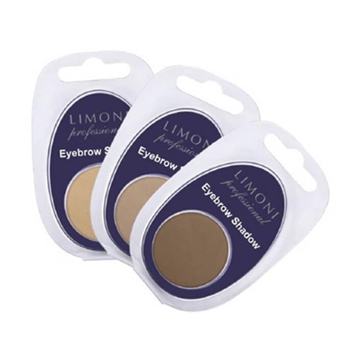 Купить Тени для бровей Limoni Еyebrow Shadow, Профессиональные тени для выразительности бровей, Южная Корея