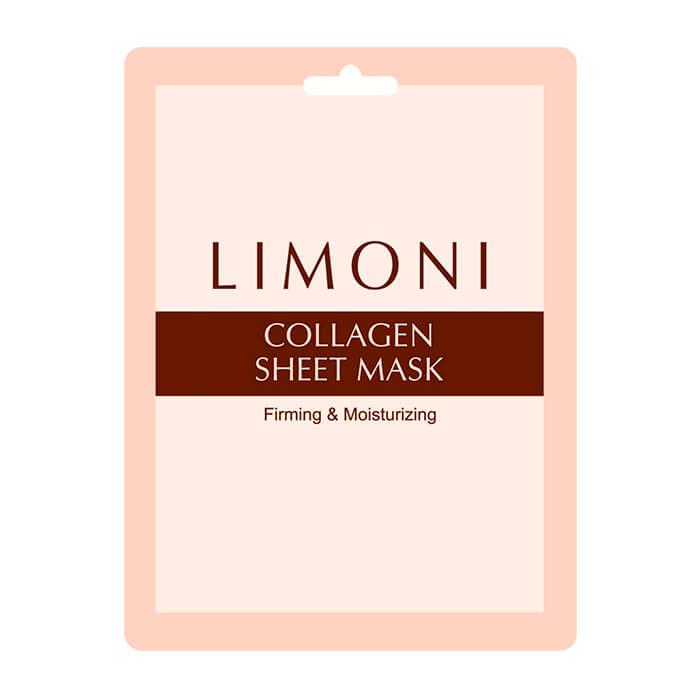Купить Тканевая маска Limoni Collagen Sheet Mask, Подтягивающая тканевая маска для лица с коллагеном, Южная Корея