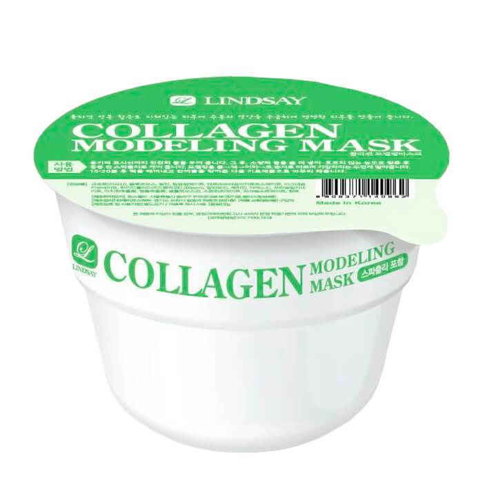 Купить Альгинатная маска Lindsay Collagen Modeling Mask Cup Pack, Моделирующая альгинатная маска для лица с коллагеном, Южная Корея