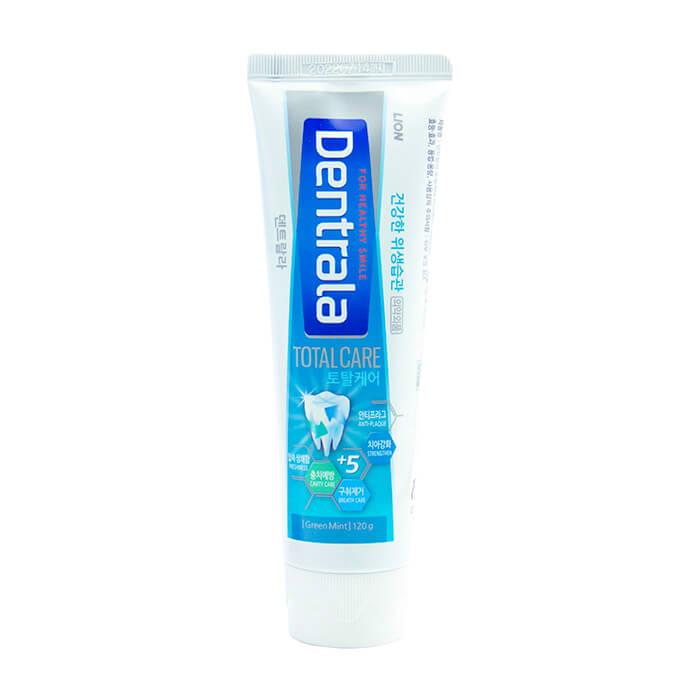 Купить Зубная паста Dentrala Total Care Greenmint, Зубная паста с нежным ароматом мяты для поддержания здоровья десен и зубов, Lion, Япония