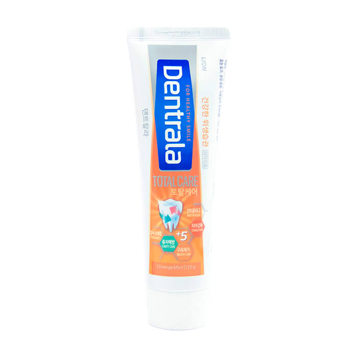 Купить Зубная паста Dentrala Total Care Orangemint, Зубная паста со вкусом апельсина и мяты для деликатного ухода за полостью рта, Lion, Япония