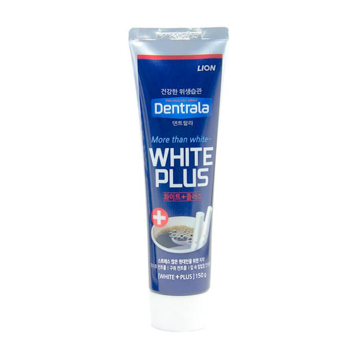 Купить Зубная паста Dentrala White Plus, Отбеливающая зубная паста для защиты цвета эмали от кофеина и сигарет, Lion, Япония