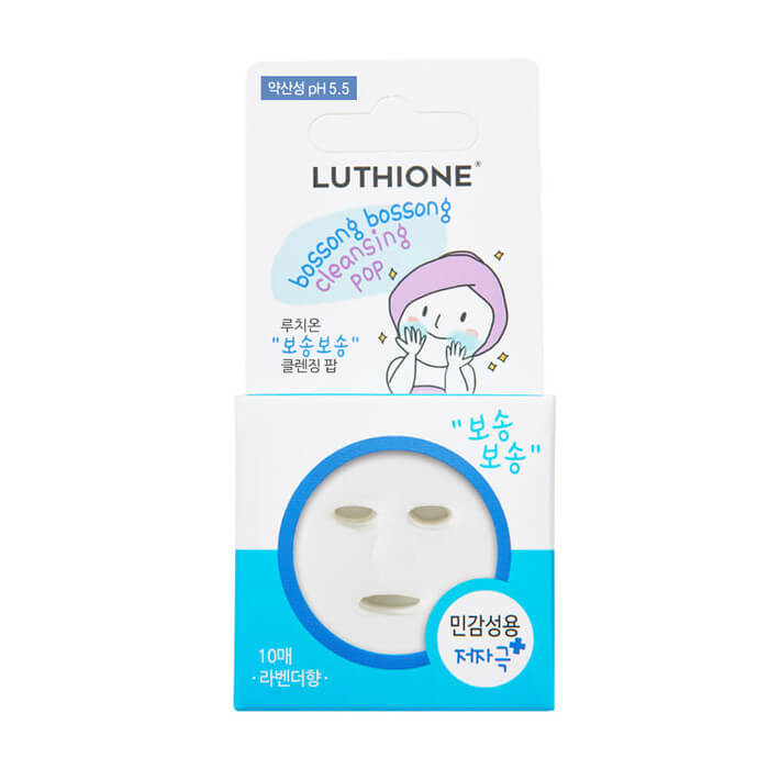 Сухая пенка для лица Luthione Boddle Boddle Cleansing Pop (for Sensitive Skin) 5 шт Сухая пенка для умывания комбинированной кожи лица фото