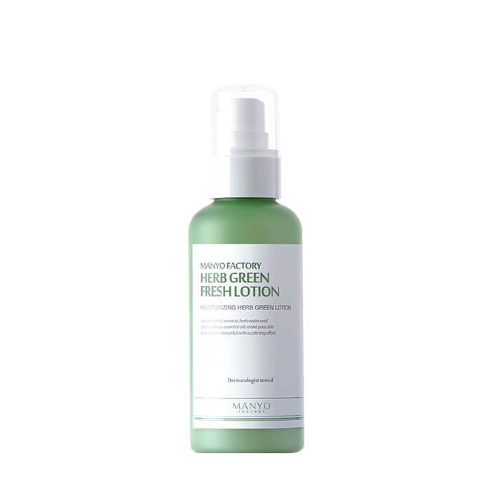 Купить Лосьон для лица Manyo Factory Herb Green Fresh Lotion, Лосьон для сухой раздраженной кожи лица с натуральным травяным комплексом, Южная Корея