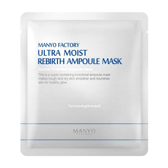 Купить Тканевая маска Manyo Factory Ultra Moist Rebirth Ampoule Mask, Ультраувлажняющая ампульная маска для лица с обновляющей эссенцией, Южная Корея