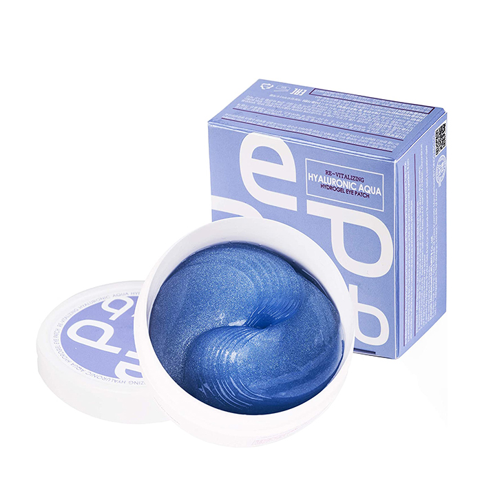 Купить Патчи для век Med:B Hydrogel Eye Patches Re-Vitalizing Hyaluronic Aqua, Гидрогелевые патчи для увлажнения и разглаживания кожи вокруг глаз с гиалуроновой кислотой, Южная Корея
