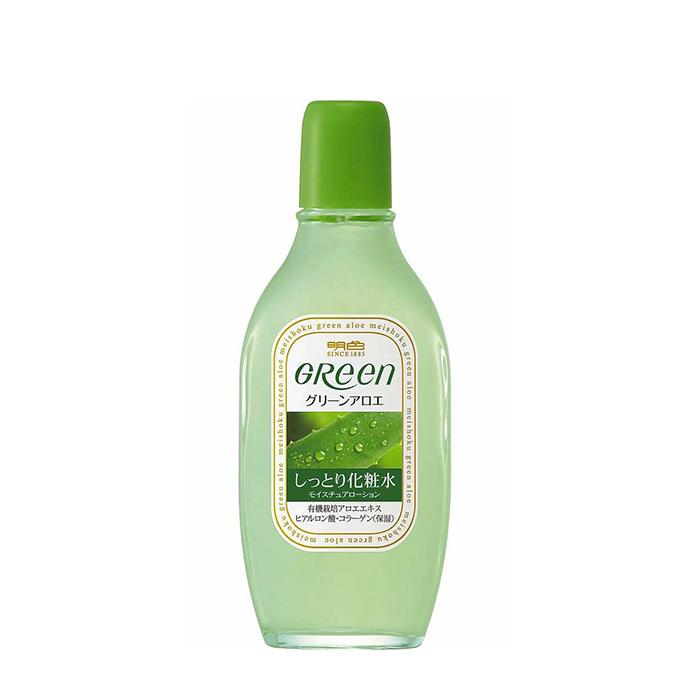 Купить Лосьон для лица Meishoku Green Plus Aloe Moisture Lotion, Глубоко увлажняющий лосьон для кожи лица с экстрактом алоэ и коллагеном, Япония
