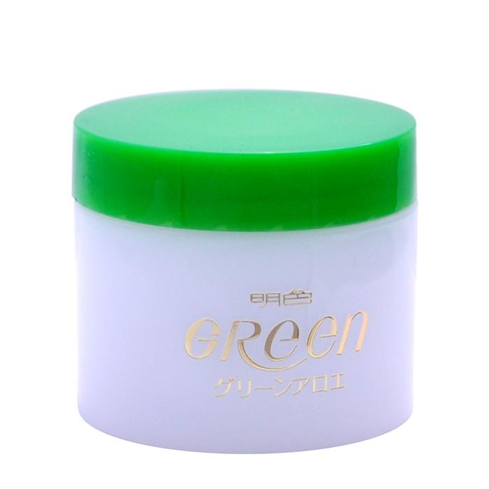 Купить Крем для лица Meishoku Green Plus Aloe Moisture Cream, Глубоко увлажняющий крем для кожи лица с экстрактом алоэ и коллагеном, Япония