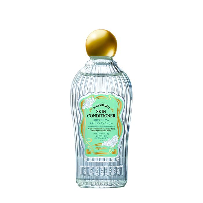 Купить Лосьон-кондиционер для лица Meishoku Premium Skin Conditioner, Премиальный лосьон-кондиционер для увлажнения кожи лица c растительными экстрактами, Япония