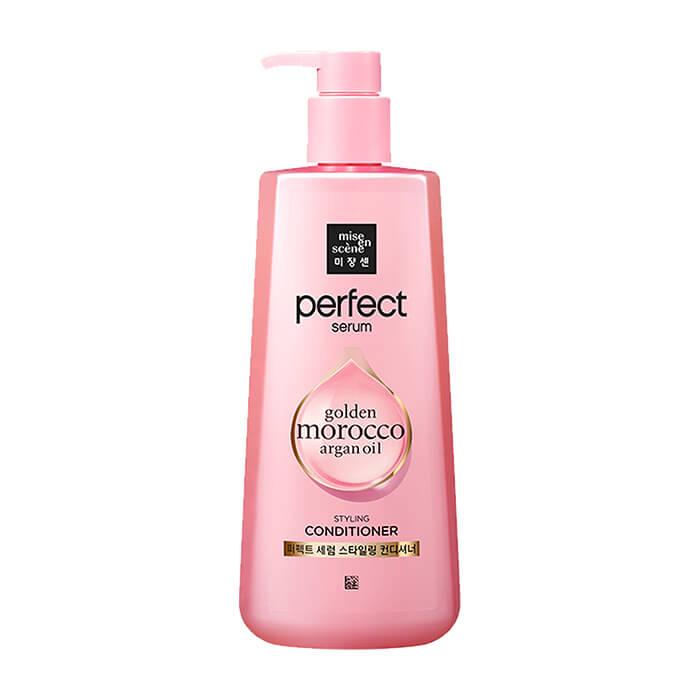 Купить Кондиционер для волос Mise-en-scène Perfect Serum Golden Morocco Argan Oil Styling Conditioner, Питательный кондиционер для повреждённых волос с комплексом масел и маточным молочком, Южная Корея