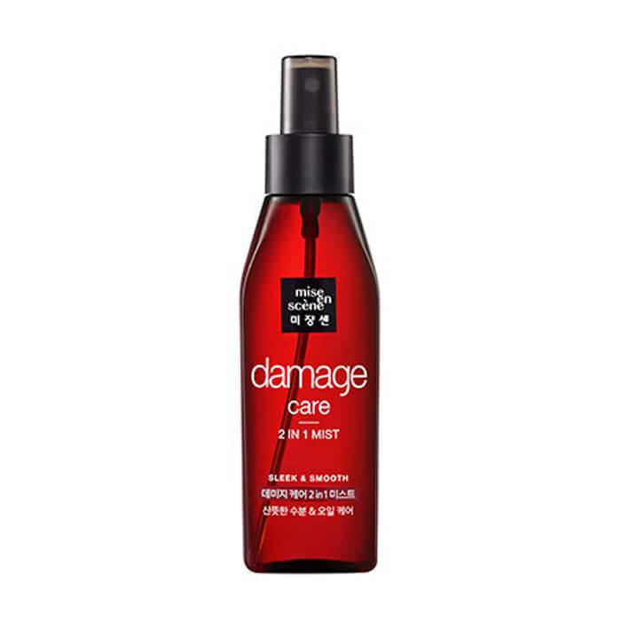 Купить Мист для волос Mise-en-scène Damage Care 2 in 1 Sleek & Smooth Mist, Восстанавливающий мист для волос на масляной основе, Южная Корея