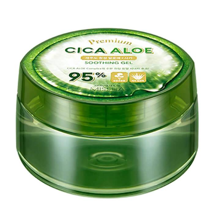 Купить Гель с алоэ и центеллой азиатской Missha Premium Cica Aloe Soothing Gel, Многофункциональный гель с экстрактами алоэ вера и центеллы азиатской, Южная Корея