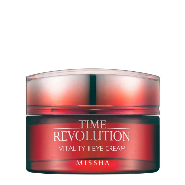 Купить Крем для глаз Missha Time Revolution Vitality Eye Cream, Антивозрастной крем для интенсивного восстановления кожи вокруг глаз, Южная Корея