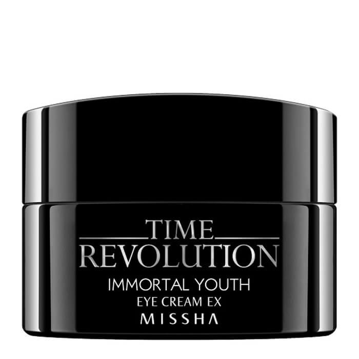 Купить Крем для век Missha Time Revolution Immortal Youth Eye Cream Ex, Антивозрастной увлажняющий крем для кожи вокруг глаз, Южная Корея
