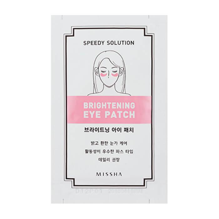 Купить Патчи для век Missha Speedy Solution Brightening Eye Patch, Патчи для осветления тёмных кругов под глазами, Южная Корея