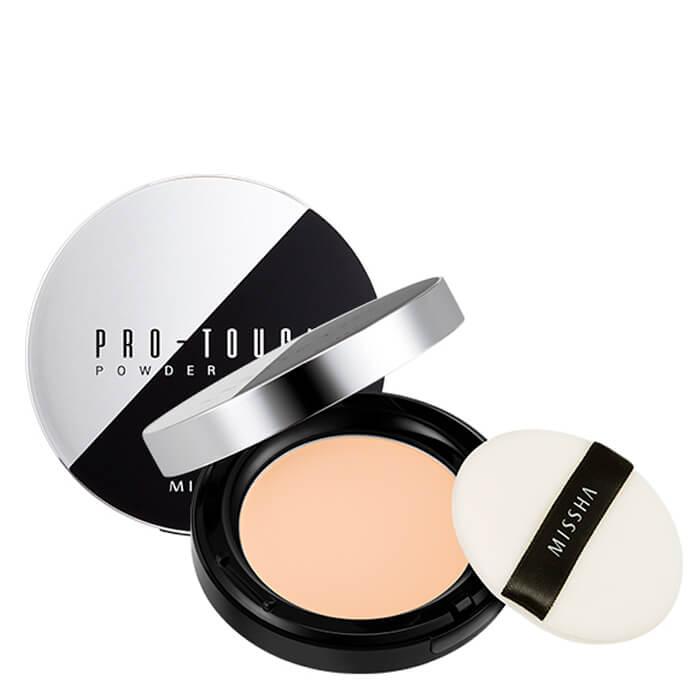 Купить Пудра для лица Missha Pro-Touch Powder Pact, Компактная лёгкая пудра выравнивает текстуру кожи лица, Южная Корея