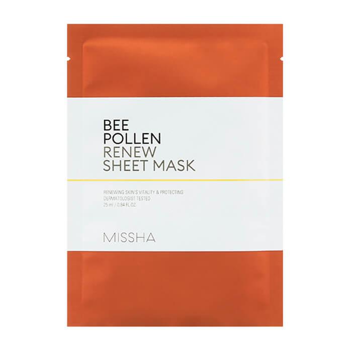 Купить Тканевая маска Missha Bee Pollen Renew Sheet Mask, Восстанавливающая тканевая маска для лица с прополисом, Южная Корея