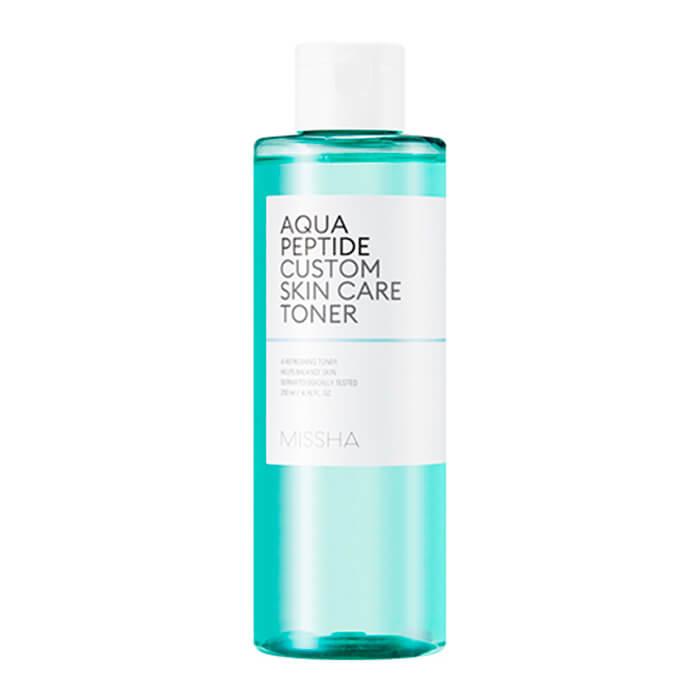 Купить Тонер для лица Missha Aqua Peptide Custom Skin Care Toner, Увлажняющий слабокислотный тонер для лица с пептидами, Южная Корея