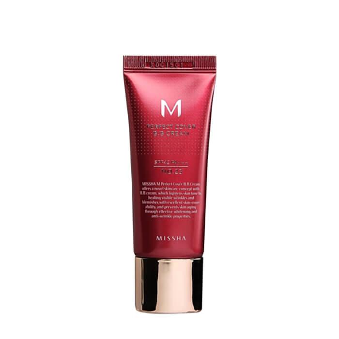 ВВ крем Missha M Perfect Cover BB Cream (20 мл) #21 Light Beige   Светло-бежевый, Популярный ББ крем с максимальной кроющей способностью, Южная Корея  - Купить