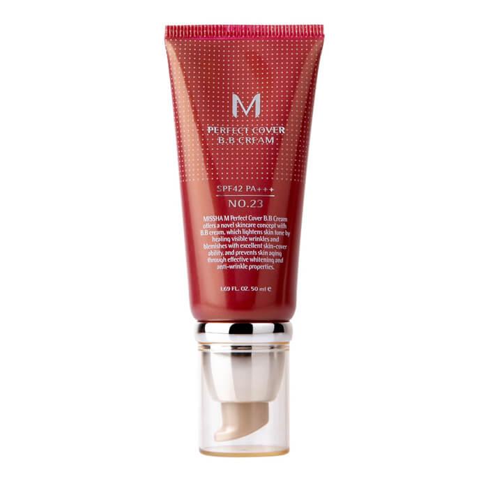 Купить ВВ крем Missha M Perfect Cover BB Cream (50 мл) #13 Milky Beige | Молочно-бежевый, Популярный ББ крем с максимальной кроющей способностью, Южная Корея