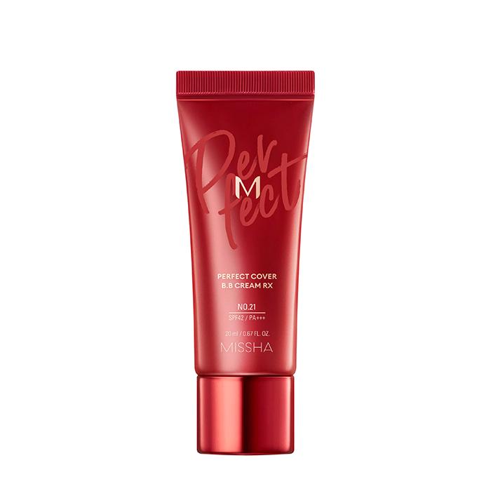 Купить ВВ крем Missha M Perfect Cover BB Cream Rx (20 мл), Цвет #21 Light Beige   Светло-бежевый, Обновленная версия популярного ББ крема с максимальной кроющей способностью, Южная Корея
