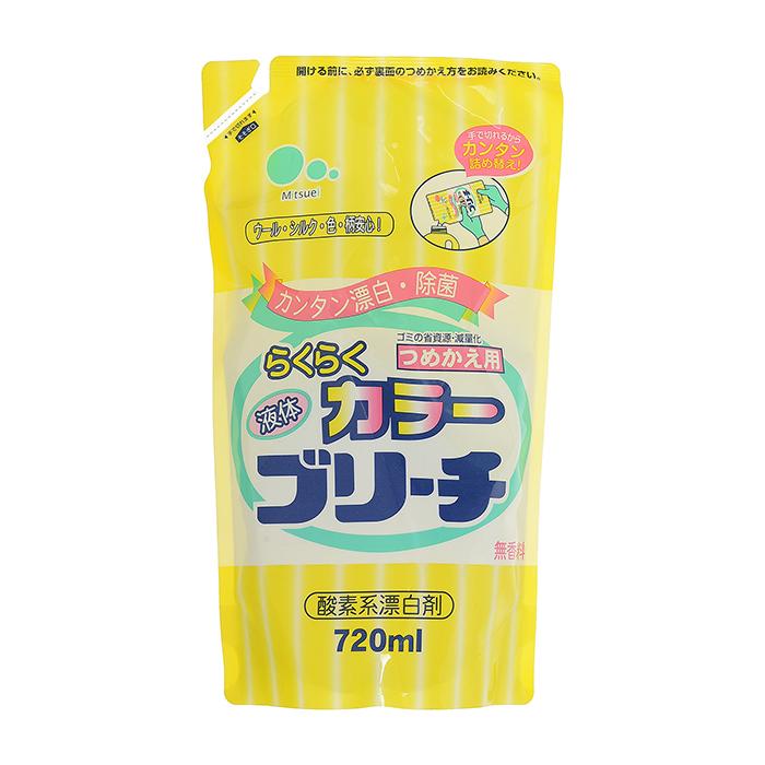Купить Отбеливатель для белья Mitsuei Color (0, 72 л, рефилл), Кислородный отбеливатель для цветных вещей и деликатных типов ткани, Япония