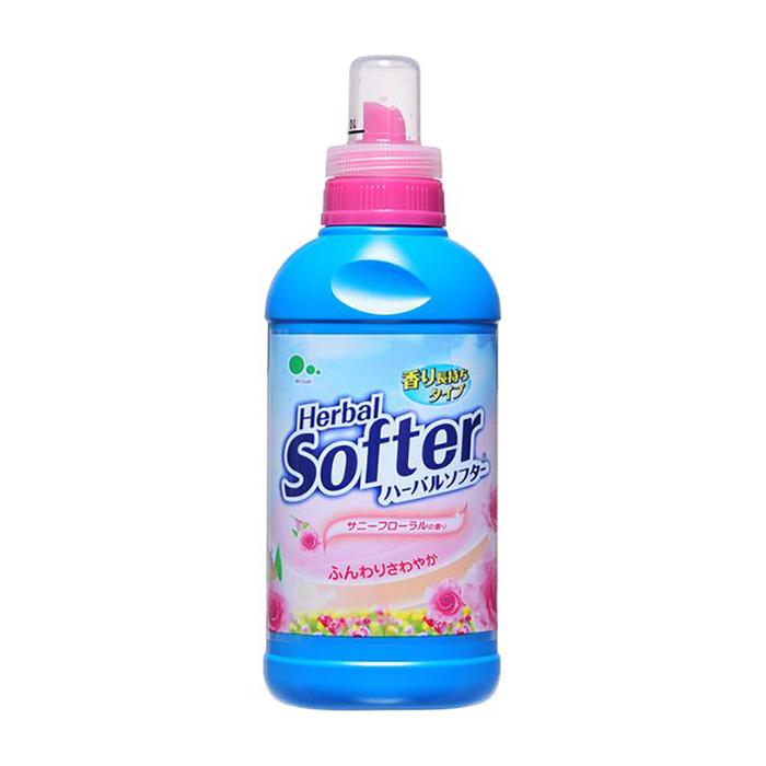 Купить Кондиционер для белья Mitsuei Herbal Softer, Кондиционер для мягкости и сохранения тканей с ароматом цветов, Япония