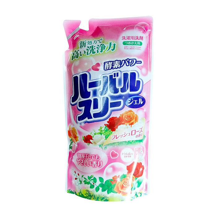 Купить Гель для стирки белья Mitsuei (800 мл, рефилл), Гель для бережной стирки белья без флюоресцентных добавок и красителей с ароматом роз, Япония