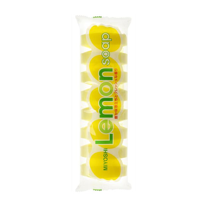 Купить Мыло для тела Miyoshi Lemon Soap for Bath (8 шт.), Туалетное мыло для очищения кожи и волос с ароматом лимона, Япония