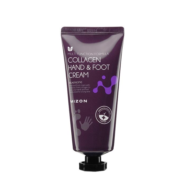 Купить Крем для рук и ног Mizon Collagen Hand and Foot Cream, Питательный омолаживающий крем для кожи рук и ног с коллагеном, Южная Корея