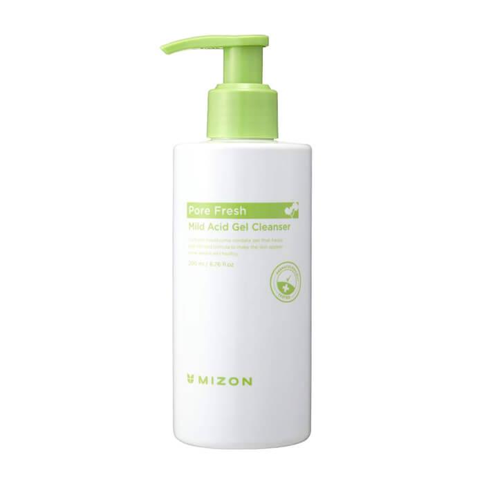 Купить Гель для умывания Mizon Pore Fresh Mild Acid Gel Cleanser, Мягкий очищающий гель для умывания кожи лица с розмарином, Южная Корея
