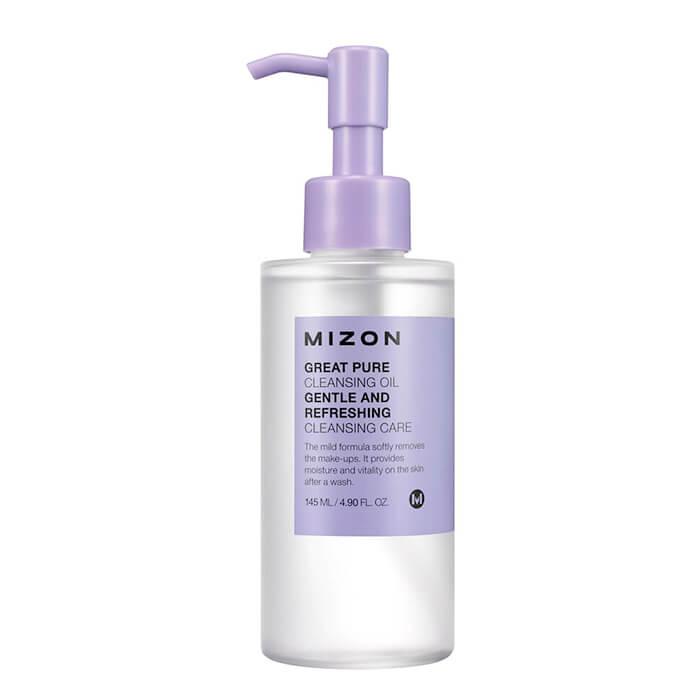 Купить Гидрофильное масло Mizon Great Pure Cleansing Oil, Очищаюее масло для снятия ББ крема и макияжа любой сложности, Южная Корея