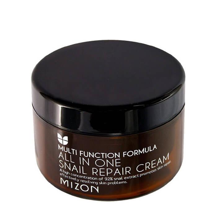 Крем для лица Mizon All in One Snail Repair Cream (15 мл), Крем для лица с 92% экстрактом улитки для проблемной кожи, Южная Корея  - Купить
