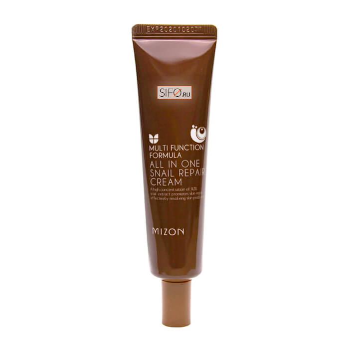 Купить Крем для лица Mizon All in One Snail Repair Cream (Tube), Крем для лица с 92% экстрактом улитки для проблемной кожи в тубе, Южная Корея