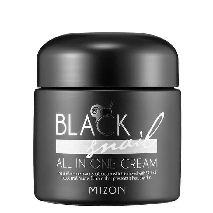 Купить Крем для лица Mizon Black Snail All In One Cream, Премиум крем для лица с 90% экстрактом чёрной африканской улитки, Южная Корея