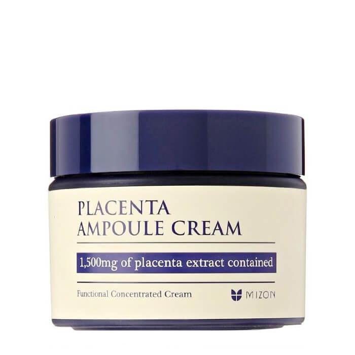 Купить Крем для лица Mizon Placenta Ampoule Cream, Концентрированный крем для лица с плацентой для возрастной кожи, Южная Корея