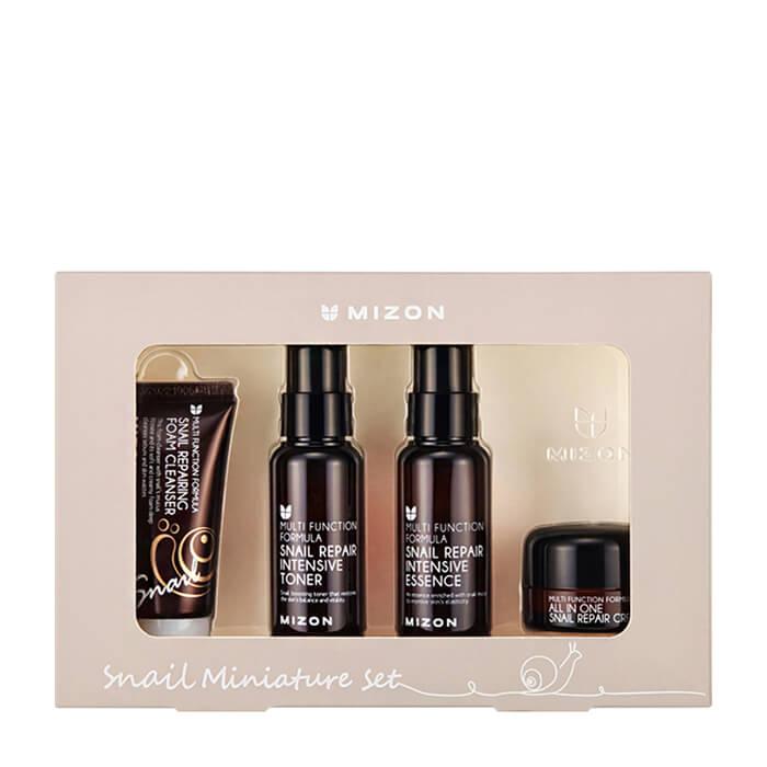 Купить Набор для лица Mizon Snail Miniature Set, Набор миниатюр для ухода за кожей лица с экстрактом слизи улитки, Южная Корея